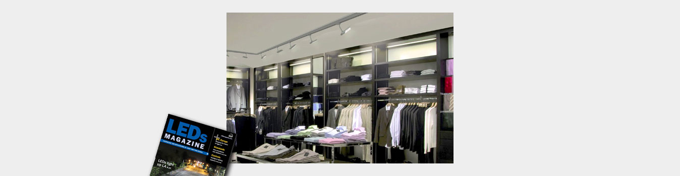 Energy-saving LED luminaires in stores