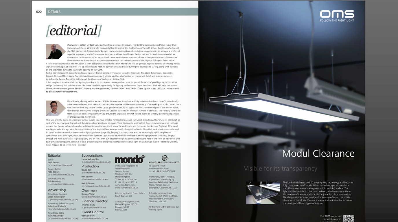Modul Clearance - visible for its transparency