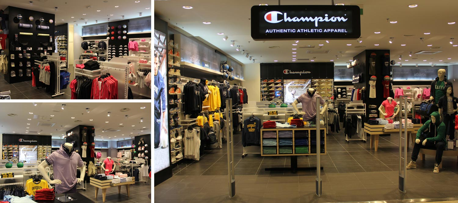 Champion boutique in Milan city centre dressed in new light