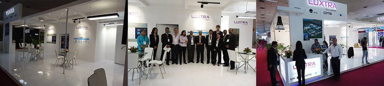 Luxtra futuresmart was successfully presented at the international lighting trade fair Light India 2012