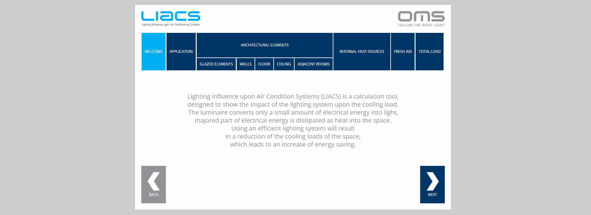 LIACS software - new tool to help increase energy savings from lighting