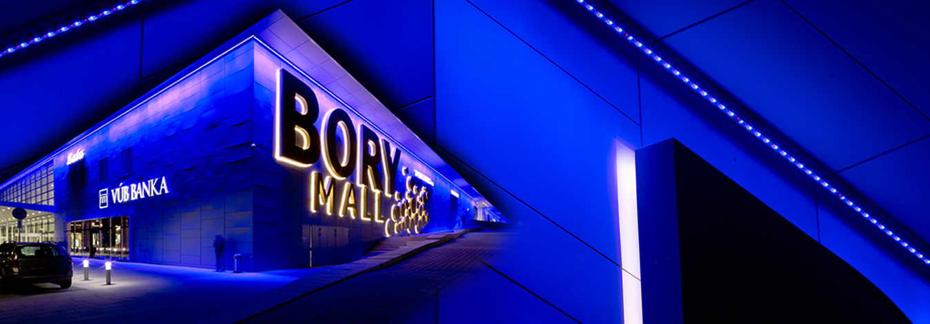 Lighting up Bory Mall