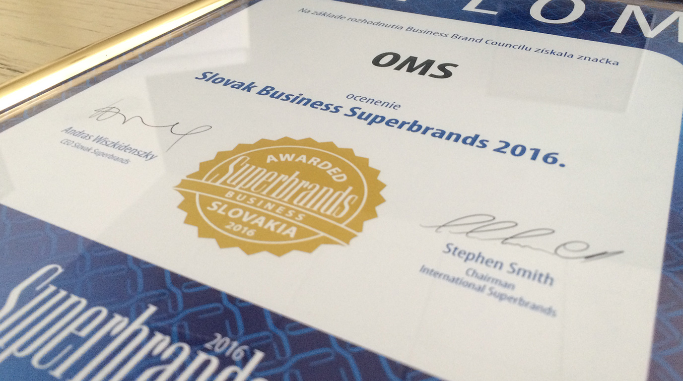 OMS is a 2016 Superbrand