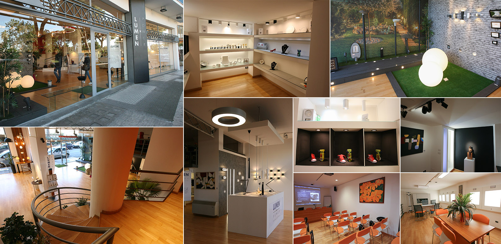 Sinergyca showroom presents luminaires from OMS portfolio